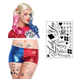 HQ Temporary Tattoos Sheet - Face, Waist, & Leg Tats - 16 Total - Costume / Cosplay