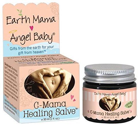 Earth Mama Angel Baby, C-Mama Healing Salve, 1 fl oz (30 ml) - 3PC