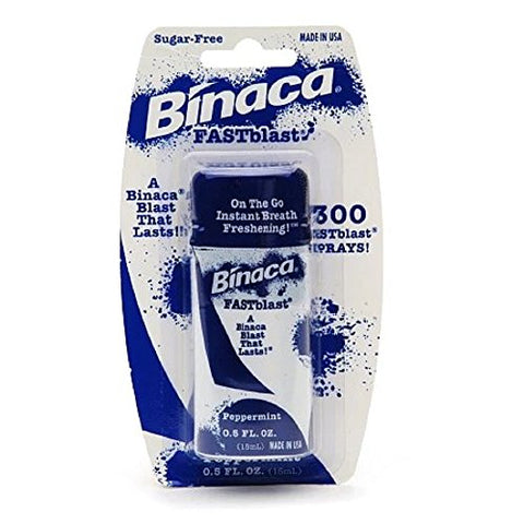 Binaca Breath Spray Fastblast Peppermint 0.5 oz