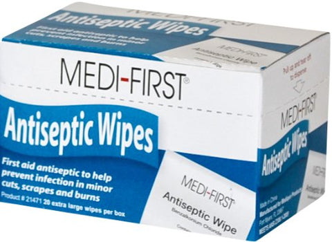 Medi-First Unitized Kit Refill Antiseptic Wipe Towelettes - MS60710 (20 Pads)