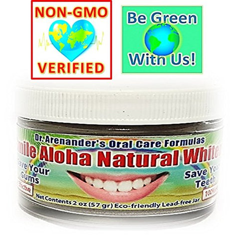 Smile Aloha Natural Whitener - Reduce Gum Disease, Recession, Plaque, Toothache, Gingivitis, Bleeding, Sensitivity, Inflammation