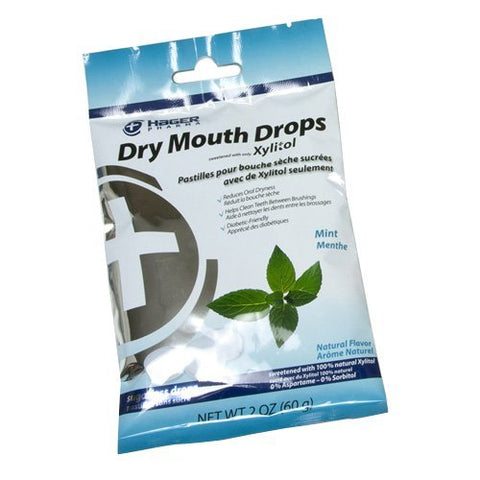 Hager Pharma Dry Mouth Drops with Xylitol Mint 26 EA - Buy Packs and SAVE
