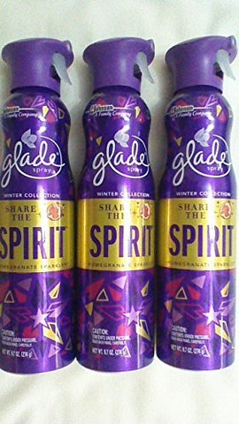 3 Glade Spray Share The Spirit Pomegranate Sparkler 9.7oz Winter Collection NEW