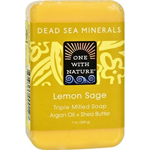 One With Nature Soap Bar Lemon Sage