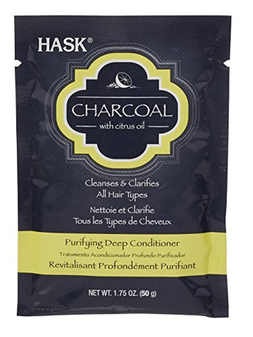 Hask Purifying Deep Conditioner, Charcoal, 1.75 Ounce