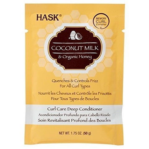 Hask Coconut Milk & Honey Curl Care Deep Conditioner, 1.75 Ounce