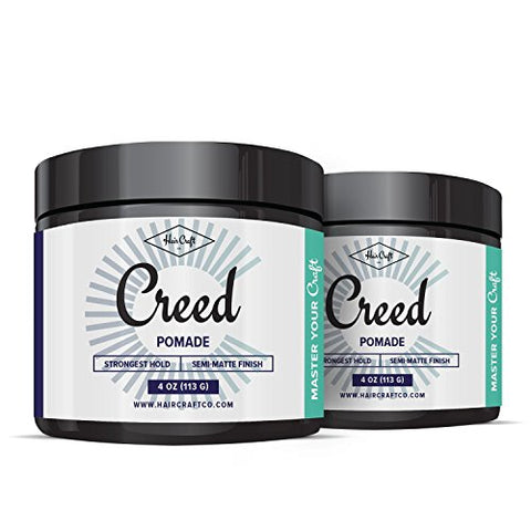 CREED - Premium Semi-Matte Finish Pomade 4oz For Men & Women - Strongest Firm Hold - Best Hair Styling Product, Barber Approved