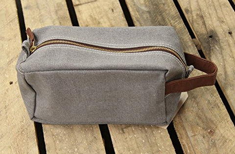 Maika Cosmetic Bag Dopp Case Waxed Ash