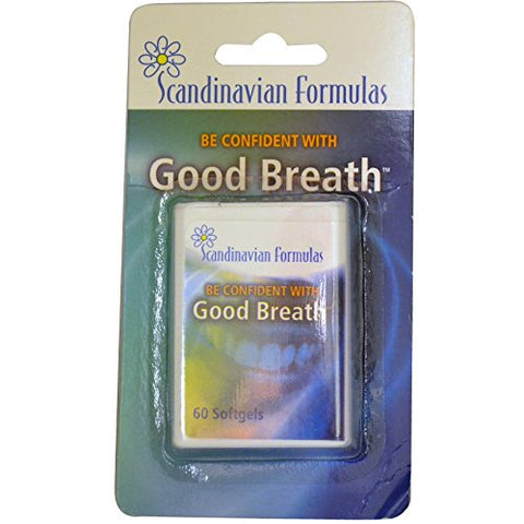 Scandinavian Formulas, Good Breath, 60 Softgels - 2pc