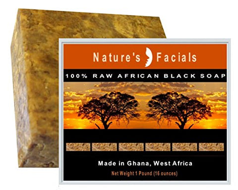 #1 BEST Raw African Black Soap Authentic Superb Normal skin Acne Sensitive Eczema Psoriasis Oily Skin & Blemishes 1LB (16 Oz) (1)