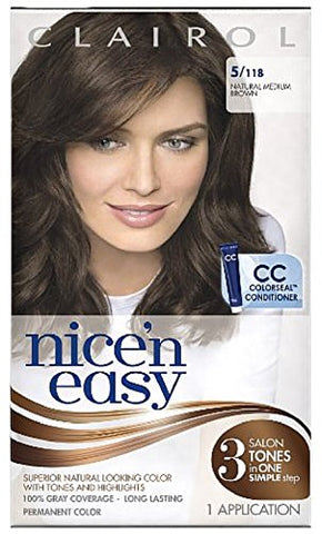Nice & Easy Hair # 118 Size 1 Kit Clairol Nice 'N Easy #118
