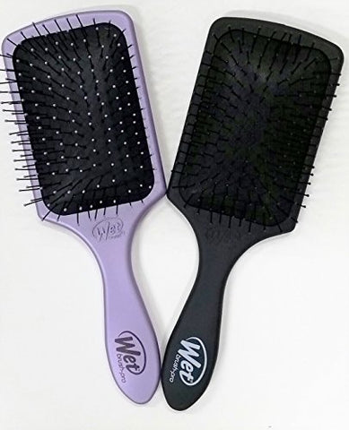 Wet Brush Pro Paddle Hair Brush - Black and Purple Duo -