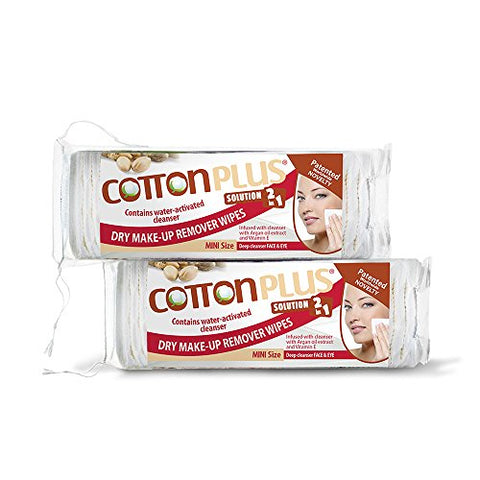 COTTON PLUS SOLUTION 2 IN 1 - EYE AND FACE MAKE-UP REMOVER MINI 60 ARGAN DUO SET