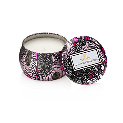 Voluspa Japanese Plum Bloom Mini Candle in Metal Tin Limited 4 oz