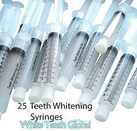 25 10cc Syringes of 44% TOP Quality Tooth Whitening Gel for Whitener Teeth