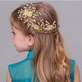 Missgrace Crystal Flower Girl Hair Comb Wedding Hair Accessories-Rhinestone Jewelry Headdress