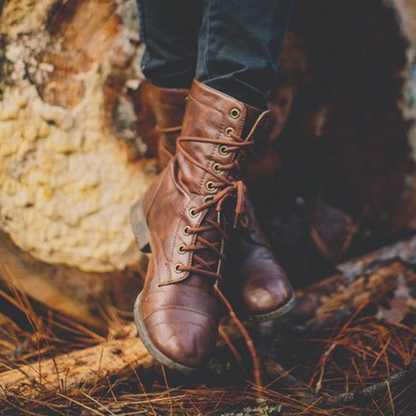 Lace Up Vintage Fashion Boots
