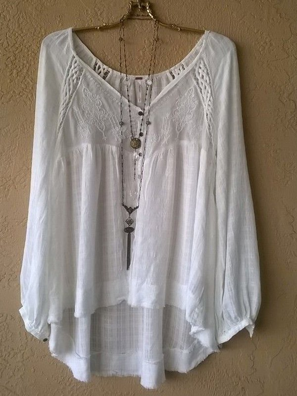 Women's  Casual V Neck  Solid Half Sleeve Shirt & Tops