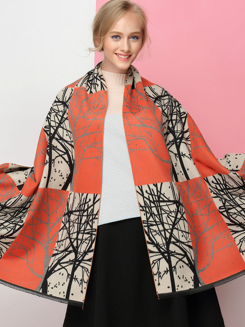 Thick Warm Branches Cashmere Christmas Scarves