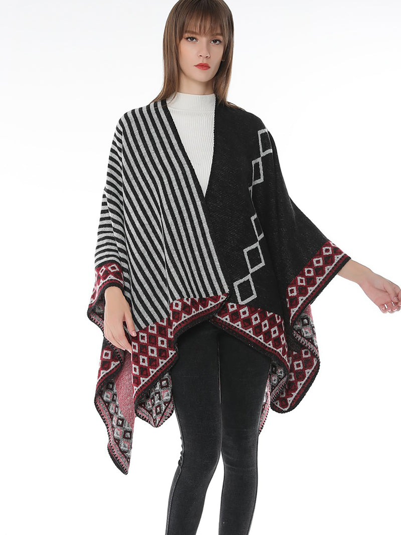 Winter Women Geometric Casual Scarf