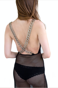 Chain-Up Dress