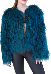 Green with envy Faux Fur