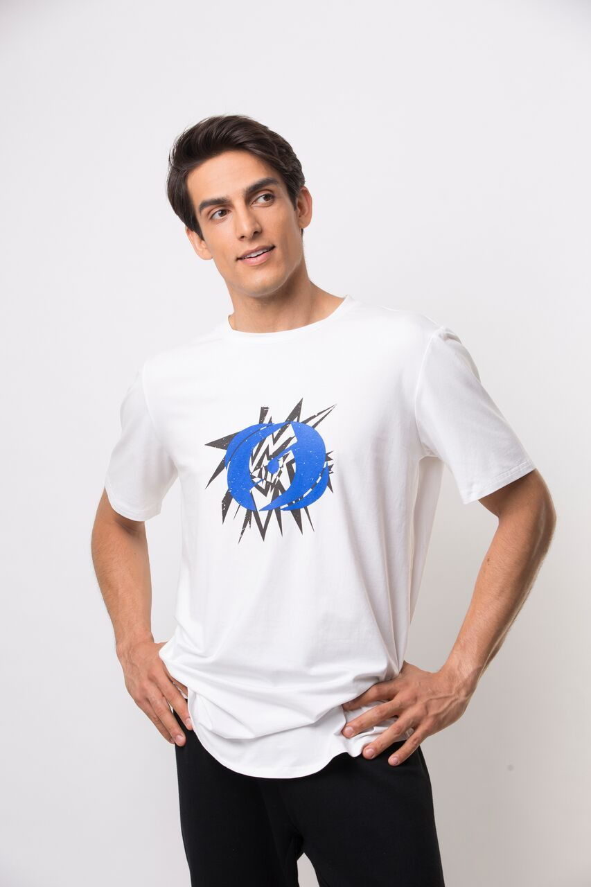 Icon Flash T-Shirt- White/Blue
