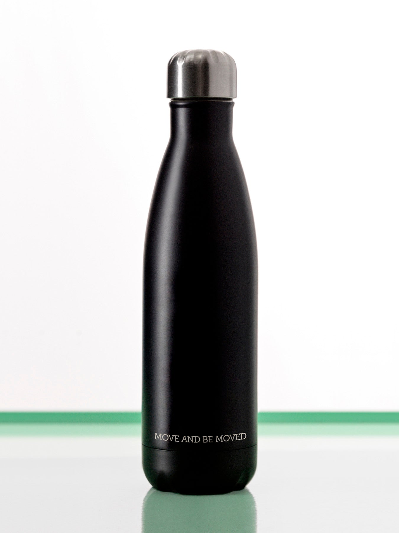 Stainless Steel Reusable Bottle - Matte Black