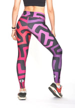 African Sound Leggings - Purple/Magenta