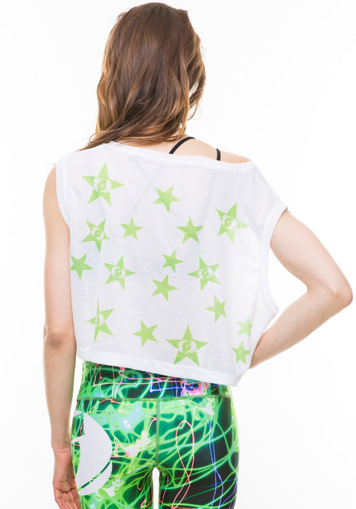 Stardust Crop Top - Black/Green