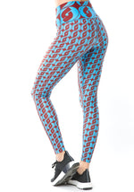 Logomania Leggings / Azure