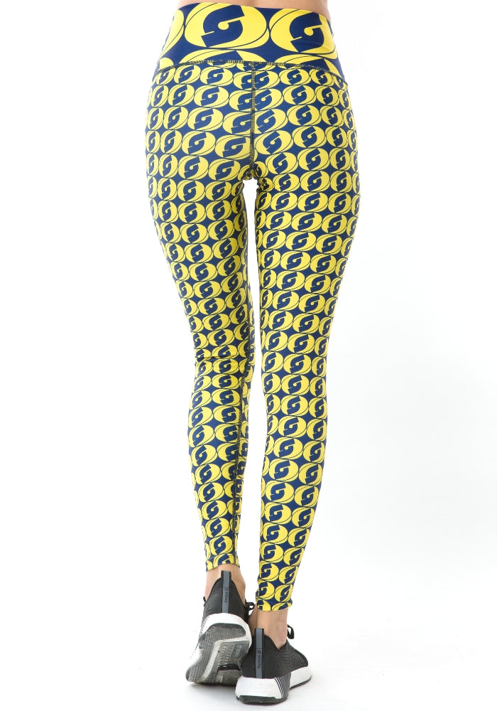 Logomania Leggings / Yellow