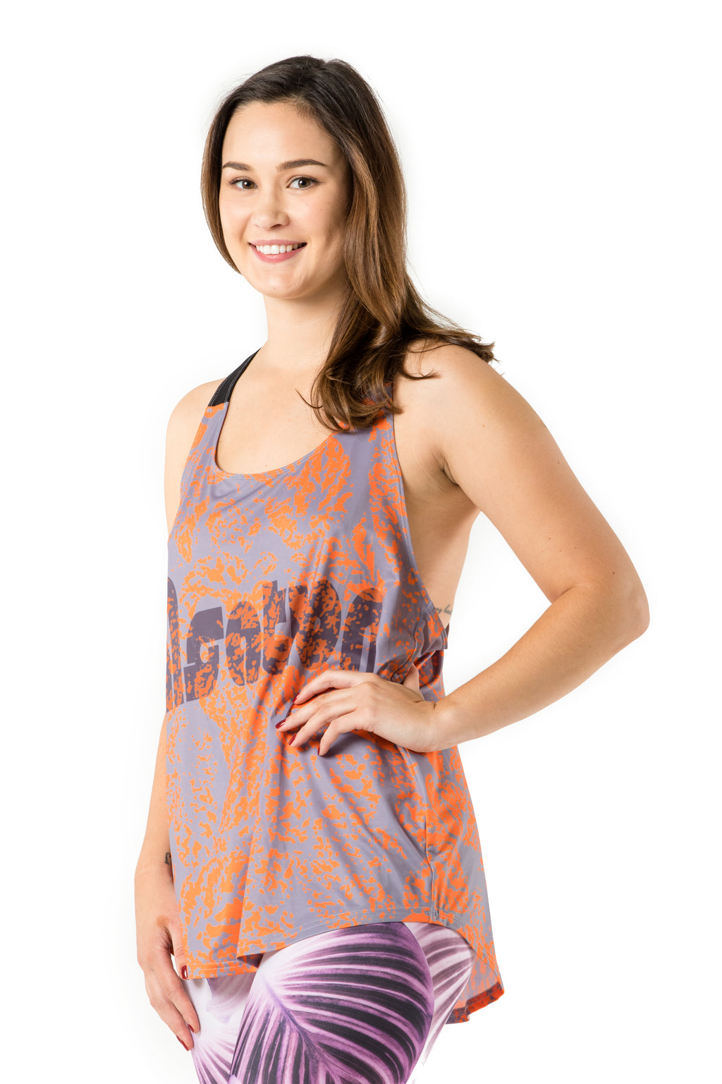 Neon Leaves Orange Tank