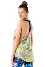 Neon Leaves Yellow Tank