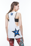 Tristar Tank - White/Blue+Black