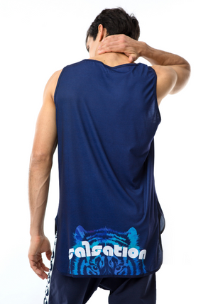 Power of the Tiger Blue Men's Muscle Tank
