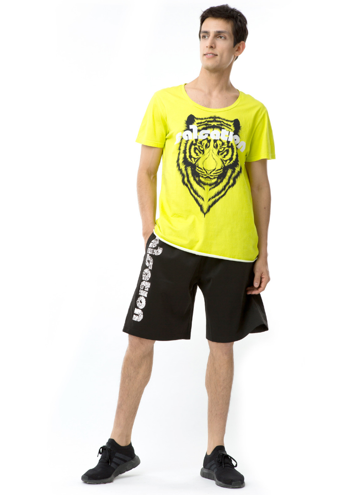 POWER OF THE TIGER yellow - Extra-Long Unisex T-Shirt