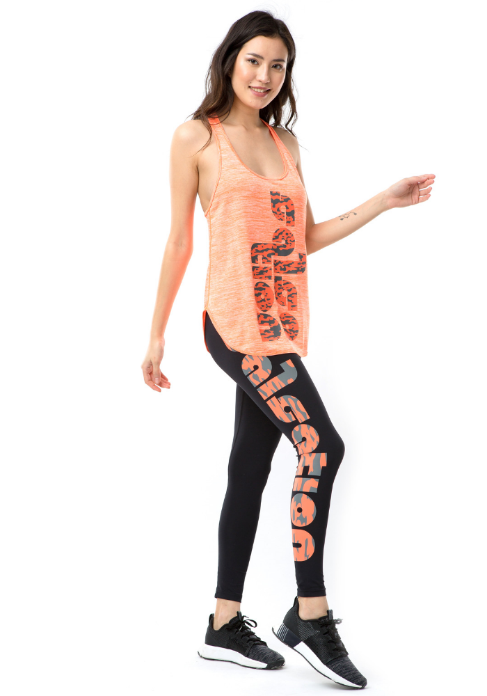 Orange Logo Leggings