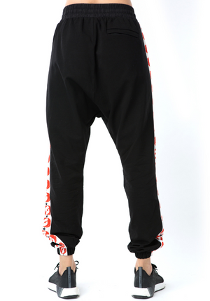 Logomania Joggers - black/orange