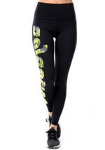 Yellow Logo Leggings