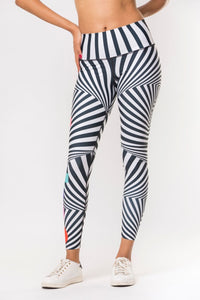 Hypnotize Me Leggings- Black+White/Multi