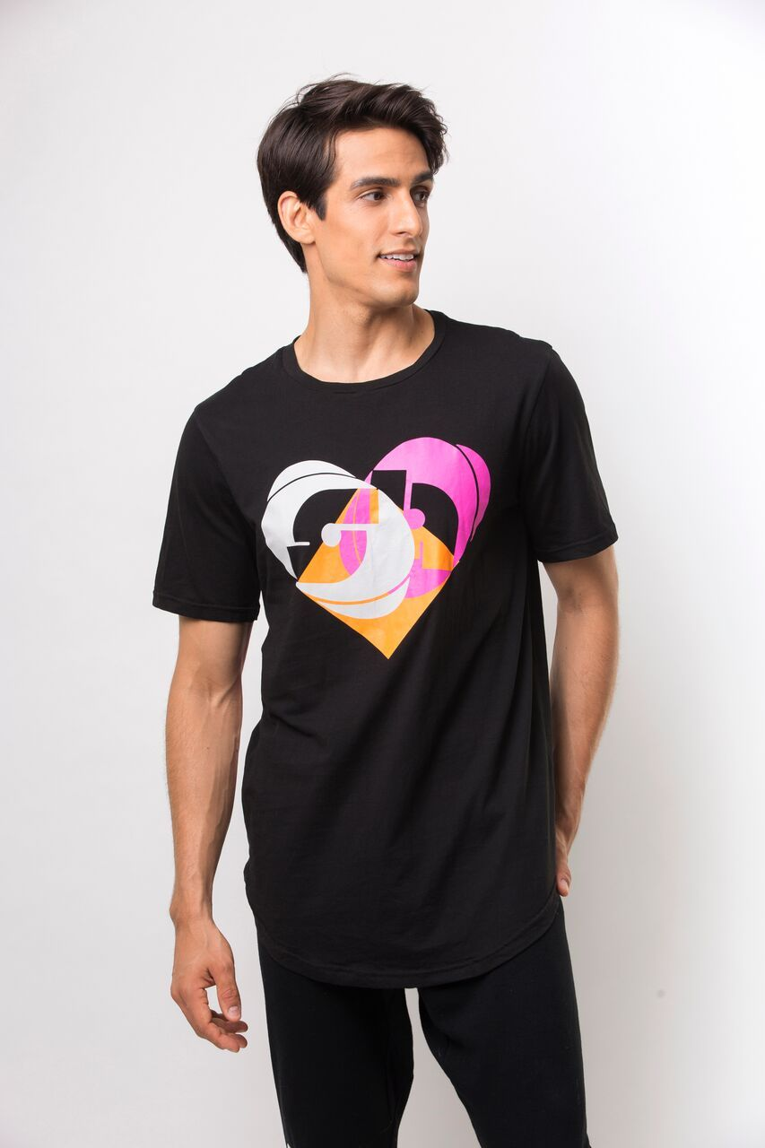 Dance With Heart T-Shirt- Black/Multi