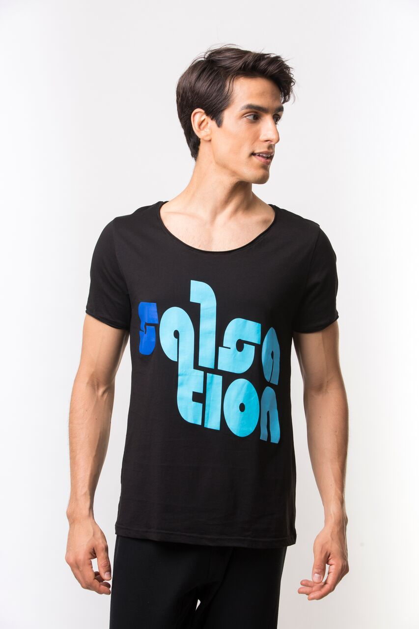 Relaxed Fit Logo T-Shirt - Black/Blue