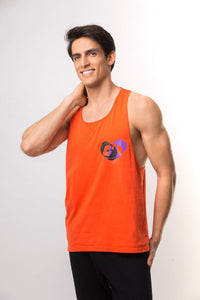 Dance With Heart Tank - Orange/Multi *