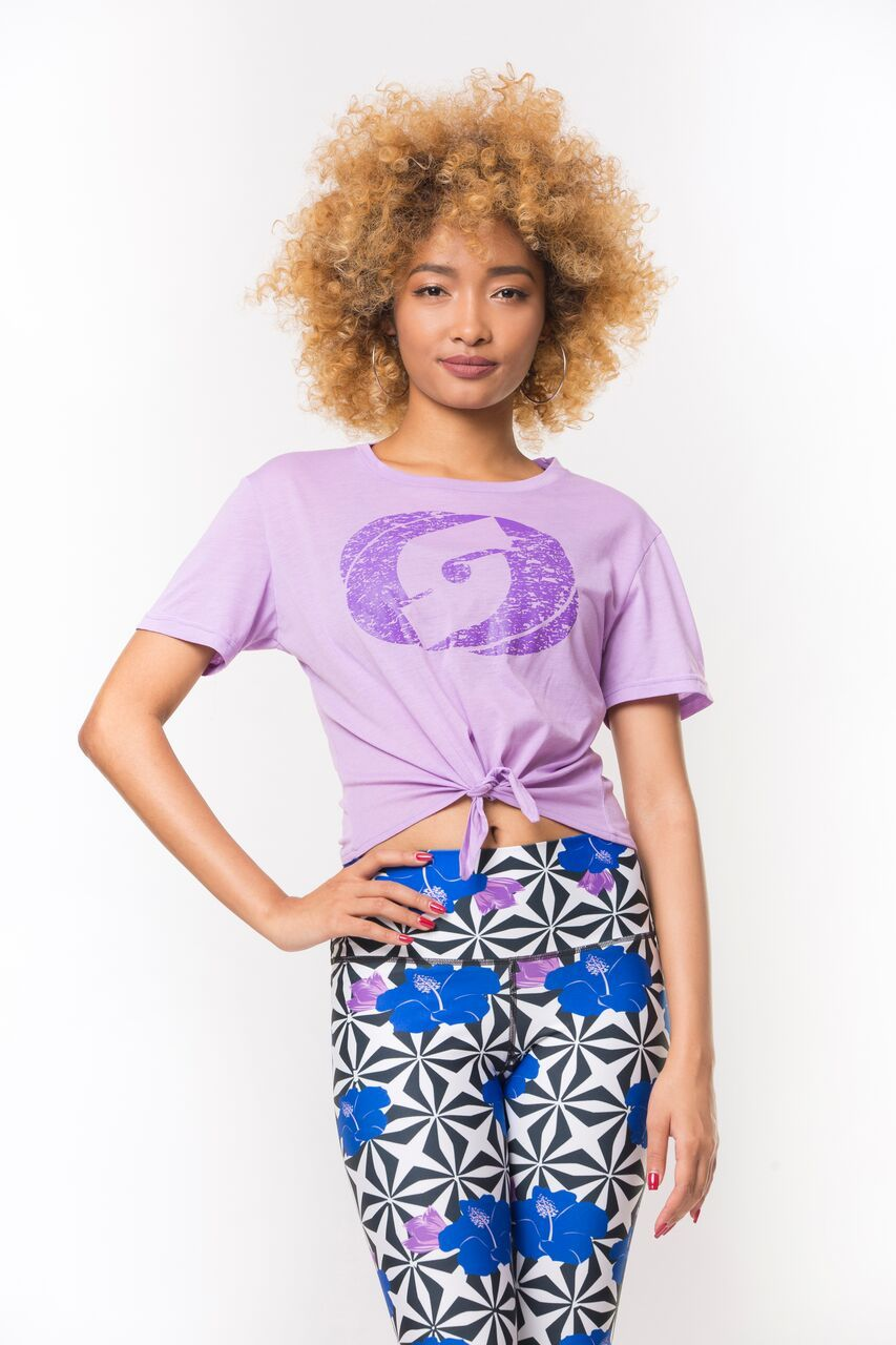 Iconic Crop Top- Lavender/Purple