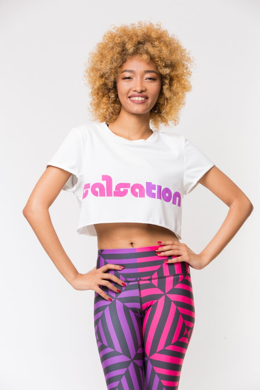 Dance with Heart Crop Top- White/Multi