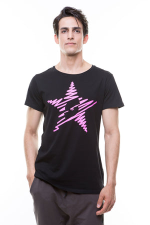 Shine On T-Shirt - Black/Salsation Pink