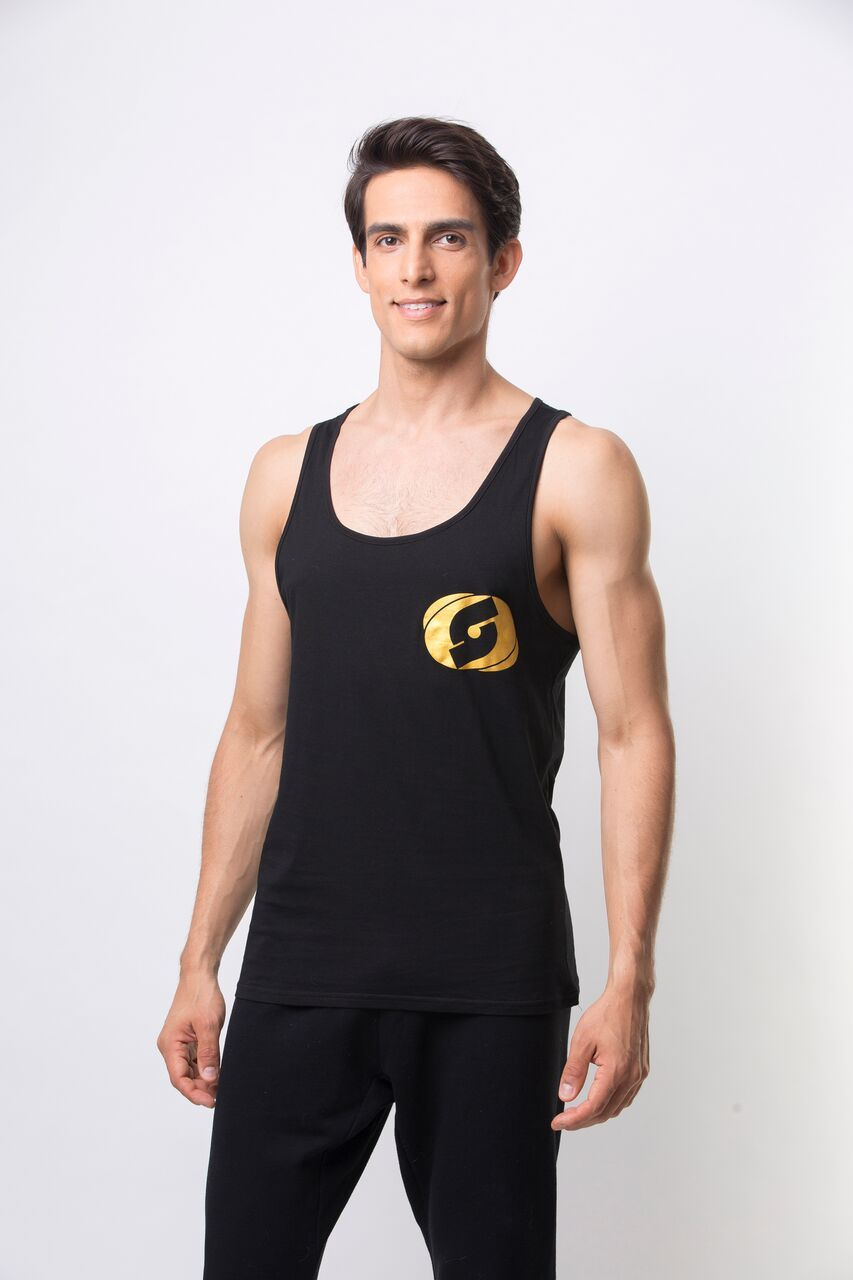Stay Golden Tank - Black/Gold