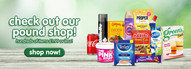 Pound Shop collection banner