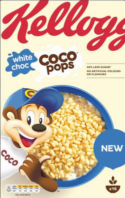 Kelloggs White Chocolate Coco Pops Cereal 480G